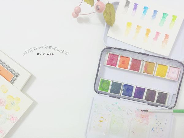 【水彩】新手的簡易懶人包&選物與推薦 塊狀水彩.紙材.筆.其他用具