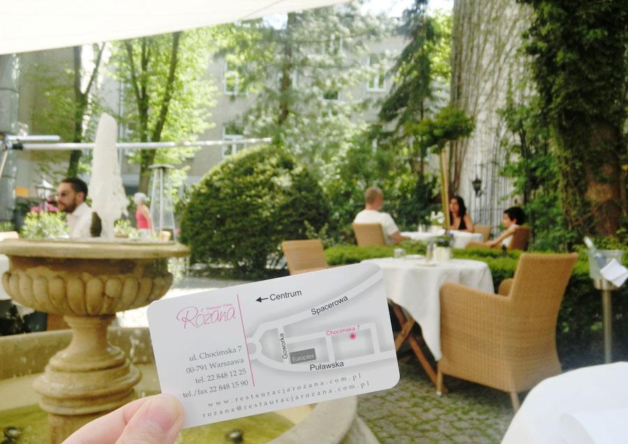 【華沙美食】tripadvisor評價超高的Różana 在浪漫歐式庭院用餐~